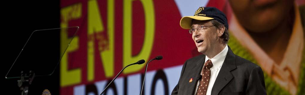 Bill Gates berättar om varför han väljer att samarbeta med just Rotary för att utrota polio.